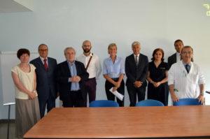 I donatori, lo Staff della Maugeri di Veruno, con il dott. Pisano (al centro con la cravatta)